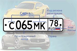 Замена номера авто